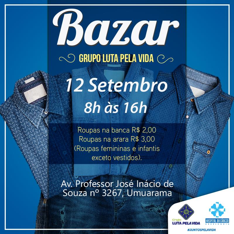 58200b6a3 Bazar do Grupo Luta Pela Vida terá grande promoção em roupas femininas e  infantis